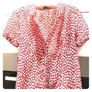 Lux Cotton/Silk Blend Tulip Shirt Size L